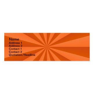 Sunbeams in Orange Card Business Cards