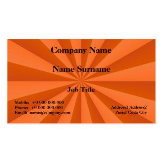 Sunbeams in Orange Card Business Card Templates