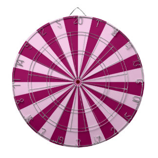 Sunbeams in Pink and Cerise Dartboard