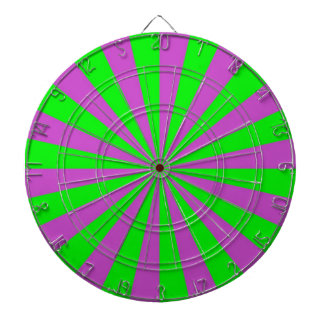 Sunbeams in Pink and Green Dartboard