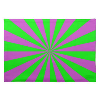 Sunbeams in Pink and Green Placemats