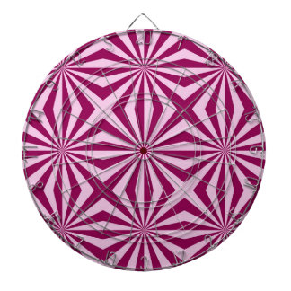 Sunbeams in shades of pink tiled Dartboard