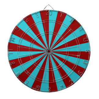 Sunbeams in Turquoise and Red Dartboard