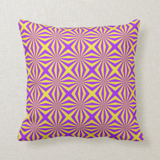 Sunbeams in Violet and Yellow Tiled Pillows