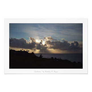 """Sunbeams"" Kauai Nature Decor Photograph"