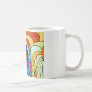 Sunbeams on the waterfall coffee mugs