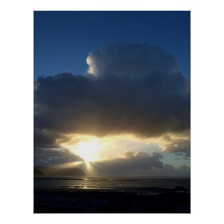 Sunbeams over Conwy posters Poster