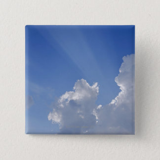 Sunbeams through Clouds, Val d'Orcia, Siena 15 Cm Square Badge