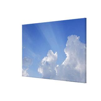 Sunbeams through Clouds, Val d'Orcia, Siena Canvas Print