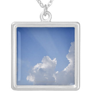 Sunbeams through Clouds, Val d'Orcia, Siena Silver Plated Necklace
