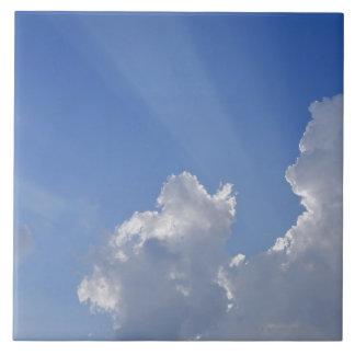 Sunbeams through Clouds, Val d'Orcia, Siena Tile
