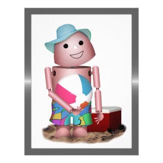 Sunburned Robo-x9 (Add Background color) Full Color Flyer