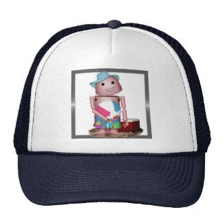 Sunburned Robo-x9 (Add Background color) Mesh Hat