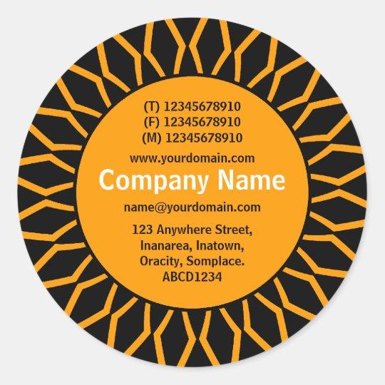 SunBurst 07 Business - Orange Classic Round Sticker