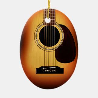 Sunburst Acoustic Guitar Christmas Ornament