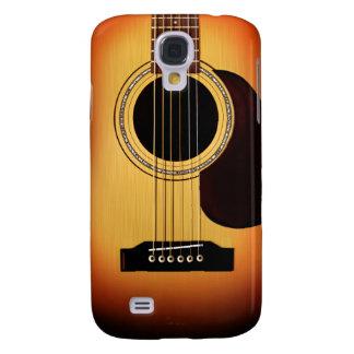 Sunburst Acoustic Guitar Galaxy S4 Case