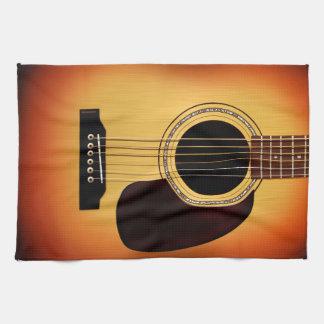 Sunburst Acoustic Guitar Tea Towel