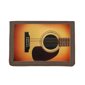 Sunburst Acoustic Guitar Tri-fold Wallets