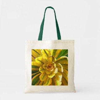 Sunburst Aeonium Succulent Square by Amy Vangsgard Budget Tote Bag