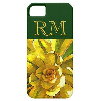 Sunburst Aeonium Succulent Square by Amy Vangsgard iPhone 5 Cases