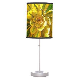 Sunburst Aeonium Succulent Square by Amy Vangsgard Table Lamp