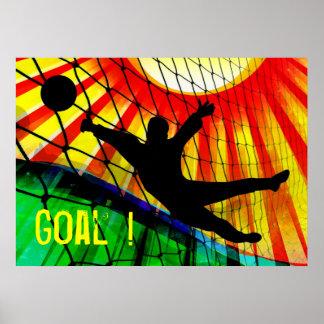 Sunburst and Net Soccer Goalie Posters