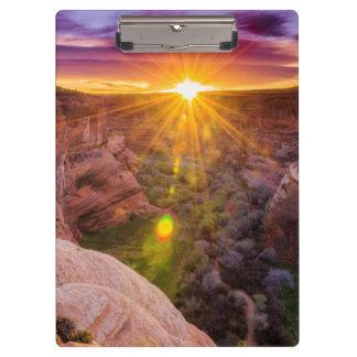 Sunburst at Canyon de Chelly, AZ Clipboard