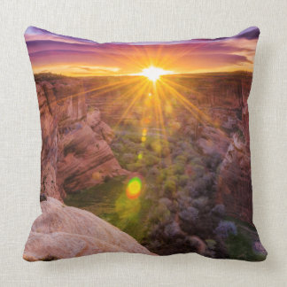 Sunburst at Canyon de Chelly, AZ Cushion