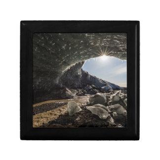 Sunburst at ice cave entrance gift box