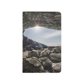 Sunburst at ice cave entrance journal