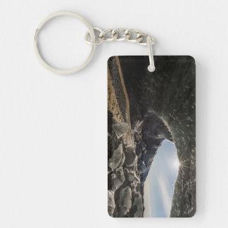 Sunburst at ice cave entrance key ring