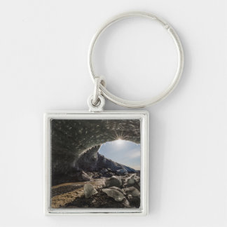 Sunburst at ice cave entrance key ring