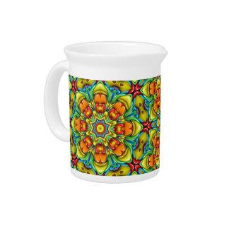 Sunburst Colorful  Kaleidoscope  Pitchers