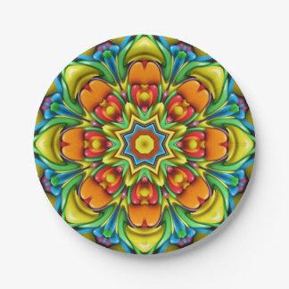 Sunburst Colorful Paper Plates