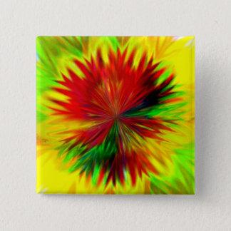 Sunburst Dahlia 15 Cm Square Badge