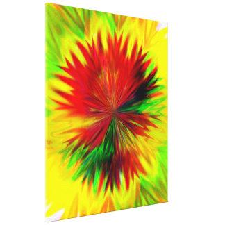 Sunburst Dahlia Stretched Canvas Print
