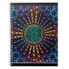 Sunburst Fractal Mandala with Celtic Knot Notebook