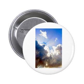 Sunburst from Dark Clouds 6 Cm Round Badge