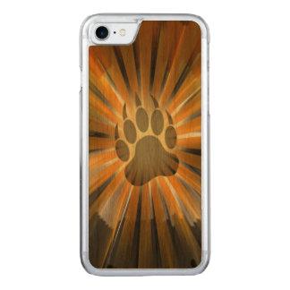 Sunburst Gay Bear Pride Flag Bear Paw Carved iPhone 8/7 Case
