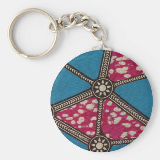 Sunburst Highway Basic Round Button Key Ring