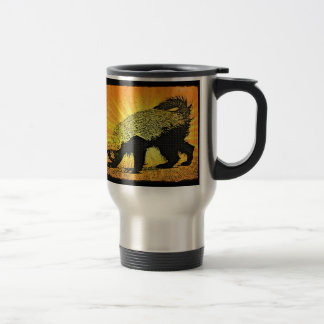 Sunburst Honey Badger Travel Mug