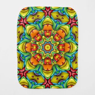 Sunburst Kaleidoscope Burp Cloth