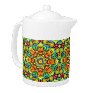 Sunburst Kaleidoscope    Colorful Teapots