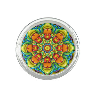 Sunburst Kaleidoscope  Custom Rings