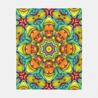 Sunburst   Kaleidoscope Fleece Blankets, 3 sizes