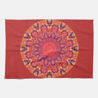 Sunburst Mandala - Abstract Circle Dance Tea Towel