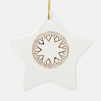 Sunburst One Ceramic Star Decoration
