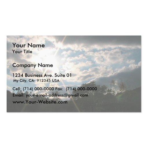 Sunburst Over Snowy Hill Business Card