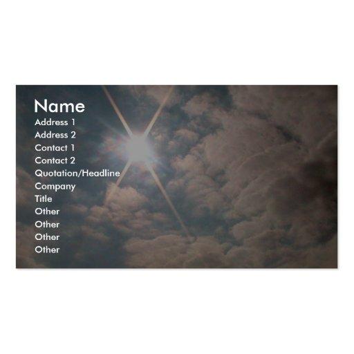 Sunburst Over Snowy Hill Business Card Template