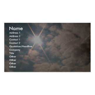 Sunburst Over Snowy Hill Pack Of Standard Business Cards